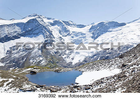 Stock Photo of Small mountain lake in Kaprun Valley, Kaprun.