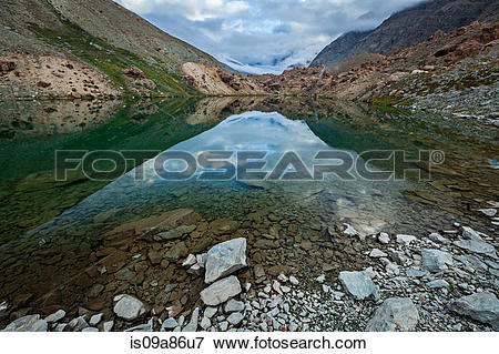 Picture of Deepak Tal lake in the Lahaul valley is09a86u7.