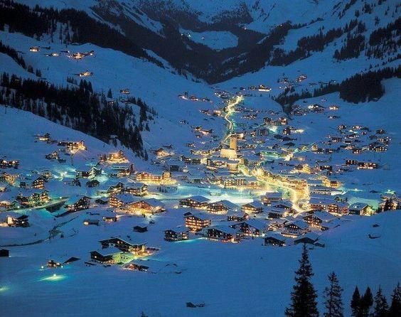Austria ski resort.