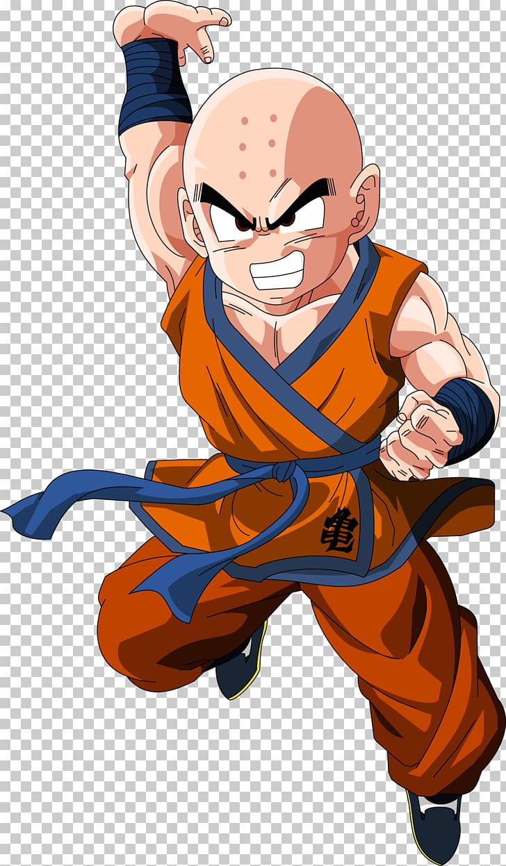 Krillin Goku Frieza Trunks Majin Buu, fluttering PNG clipart.