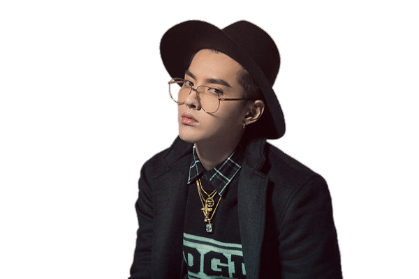 Kris Wu Wearing Black Hat transparent PNG.