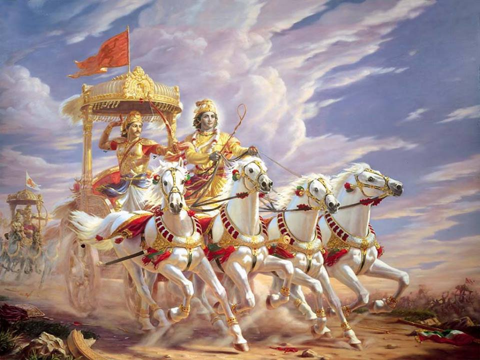 Arjun's chariot in Mahabharat. What happened to it after the gory.