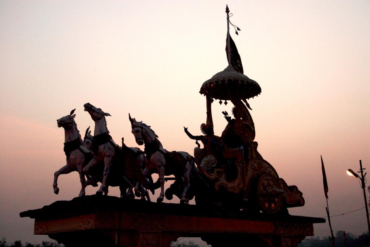 Krishna arjun clipart.