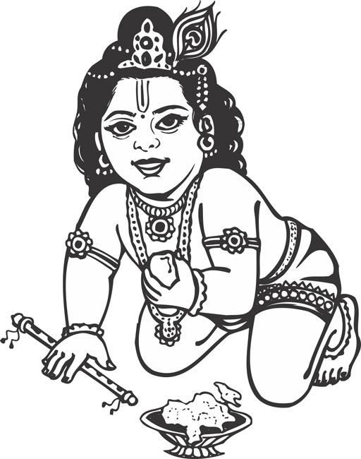 Krishna clipart images.