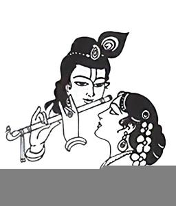 Black White Krishna Clipart.