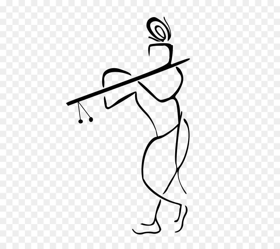Krishna Logo Clip Art.