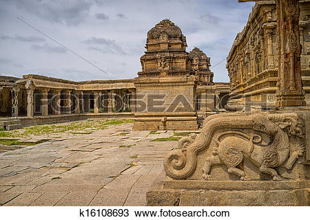 Stock Photo of Krishna temple, Hampi, Karnataka state, India.