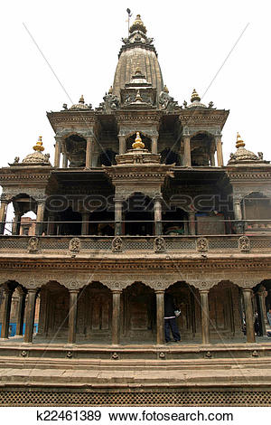 Stock Photograph of Krishna temple in Patan, Nepal k22461389.