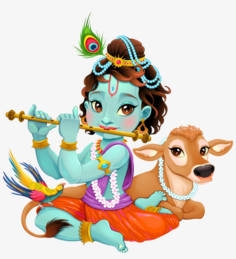Lord Krishna Clipart Png Image.