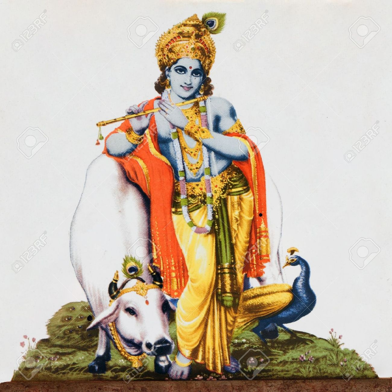 Indian Cow With Krishna PNG Transparent Indian Cow With Krishna.PNG.