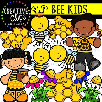 Bee Kids {Creative Clips Clipart}.