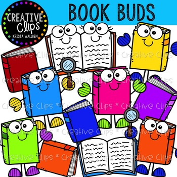 {FREE} Book Buds {Creative Clips Clipart}.