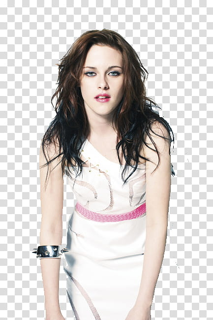Kristen Stewart , women\'s white sleeveless dress transparent.
