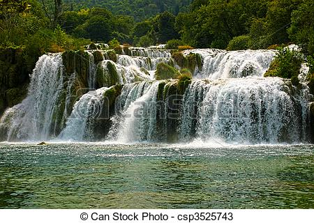 Stock Photos of famous waterfall in national park krka.