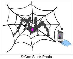 Vector Illustratie van gekke, kruis, spin.