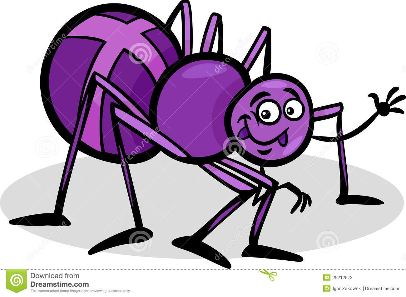 De Illustratie Van Het Het Insectbeeldverhaal Van De Kruisspin.