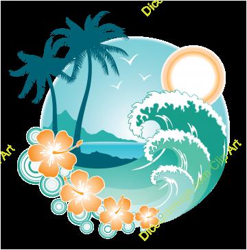 Paradise Island Clipart.