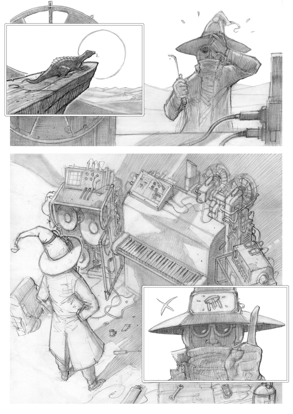comic pages by Absurdostudio.