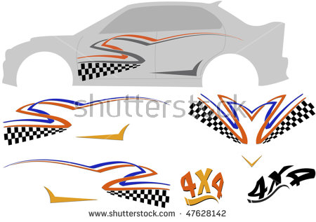 Clipart Illustration1967 Ford Mustang Gt500 Muscle.