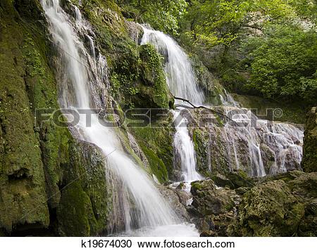Stock Photography of Waterfall near the beautiful village Krushuna.