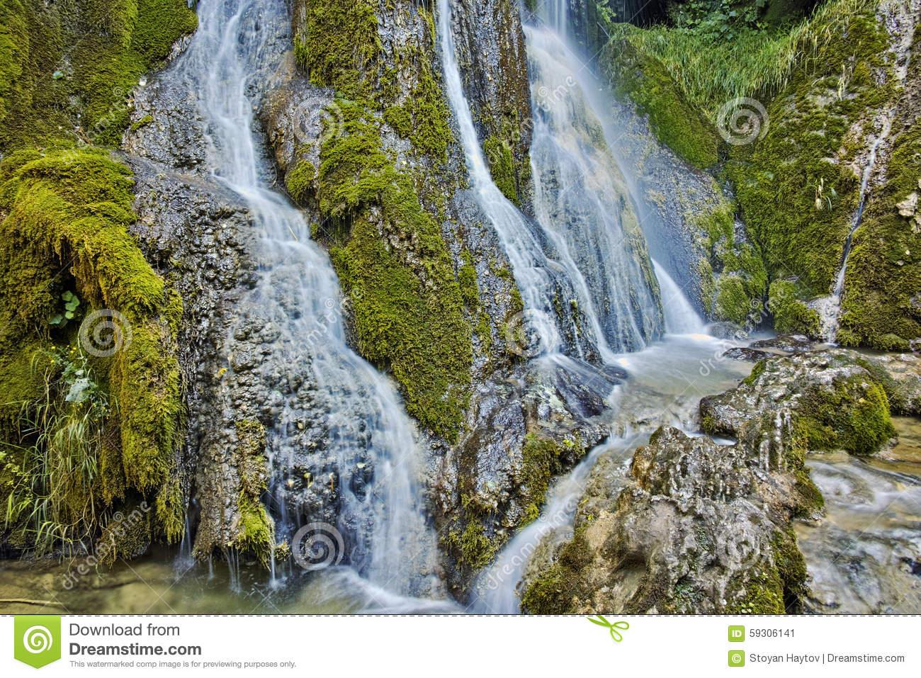 Amazing View Of Krushuna Waterfalls, Near The City Of Lovech Stock.