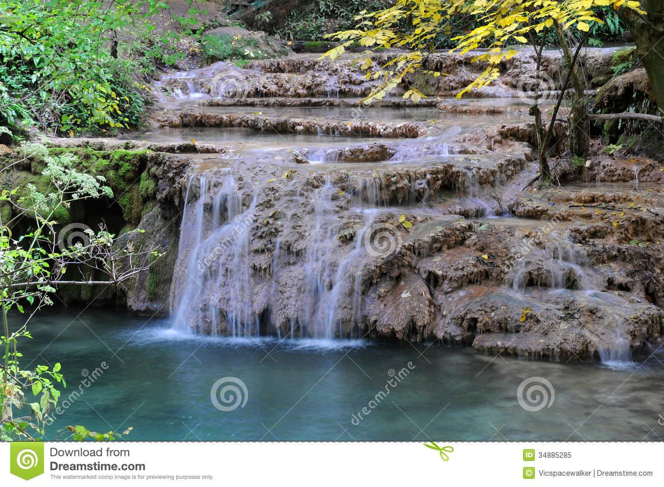 Krushuna Cascade Waterfalls Royalty Free Stock Photo.