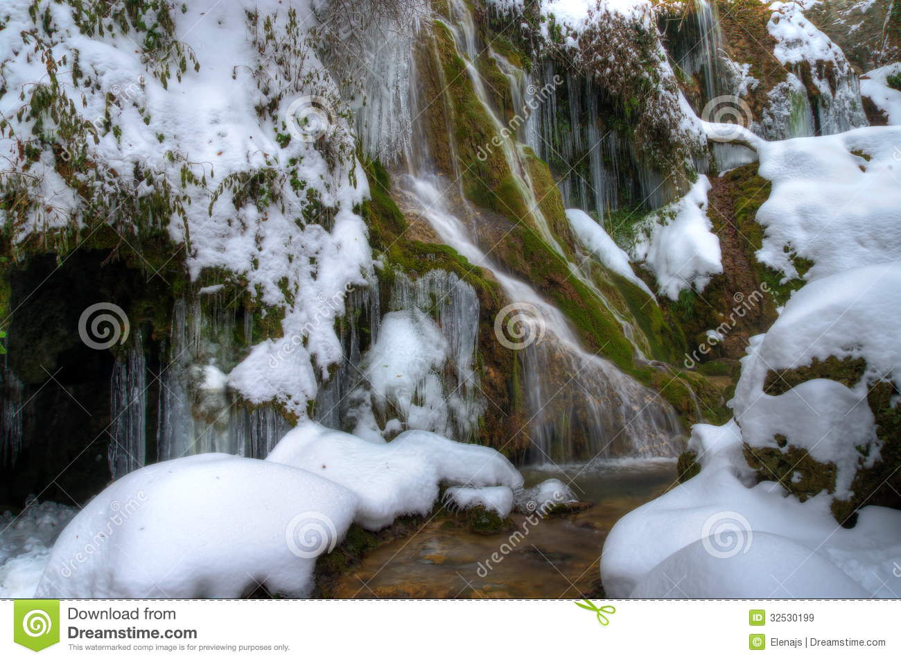 Krushuna Waterfalls Royalty Free Stock Images.