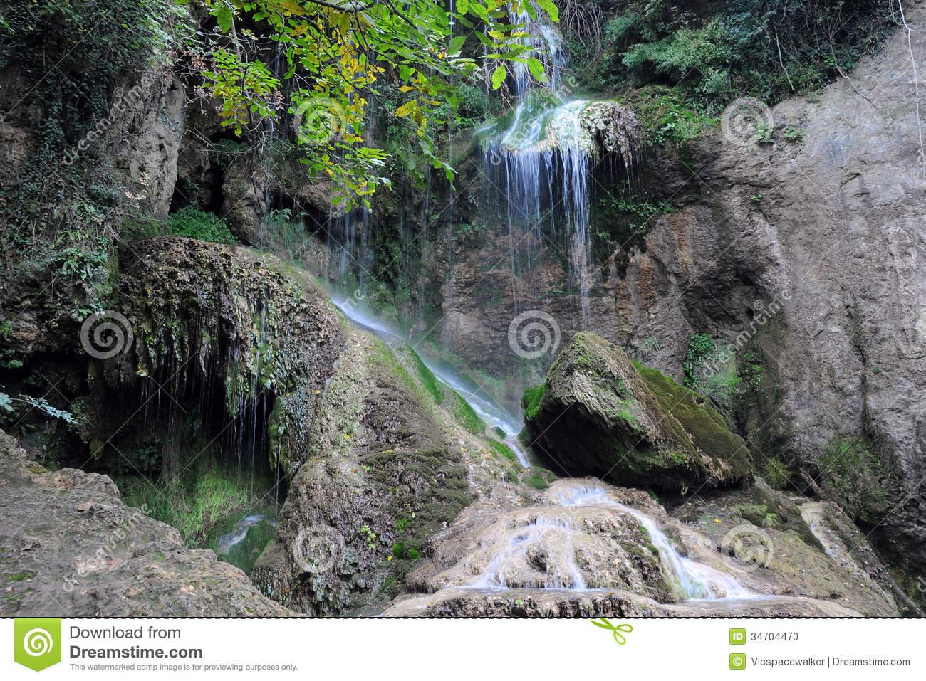 Krushuna Waterfalls In Bulgaria Stock Photo.