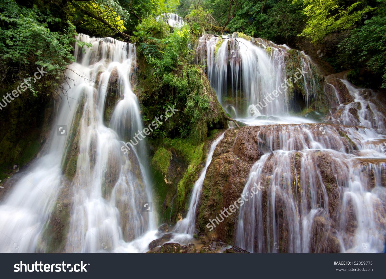 Krushunas Waterfalls Located Bulgaria Longest Waterfalls Stock.