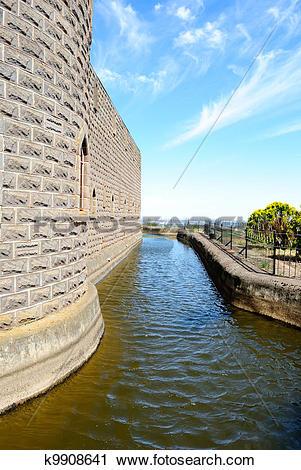 Stock Photography of Kryal castle, medieval style k9908641.