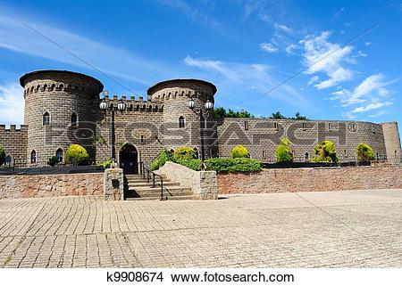 Stock Photo of Kryal castle, outside Ballarat, a medieval style.