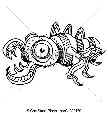 Vektorer Illustration av insekt, krypa.