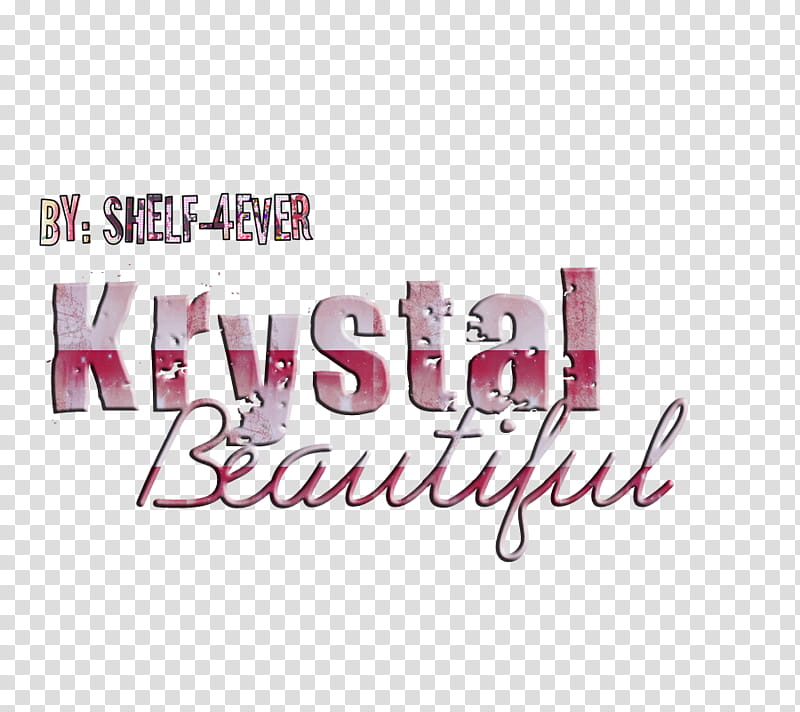 Texto Krystal Beautiful transparent background PNG clipart.