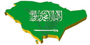 Saudi arabia map clipart.