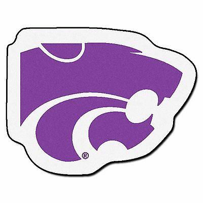 Kansas State Wildcats Mascot Decorative Logo Cut Area Rug Floor Mat  846104083217.