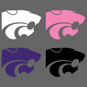 Details about Kansas State Wildcats Power Cat Decal, White Pink Purple  Black, Free Shipping.