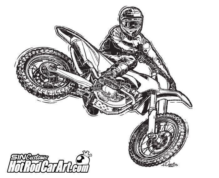 KTM Motocross Rider.