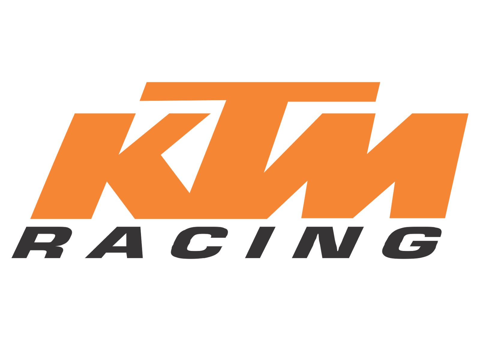 KTM Racing Logo Vector.