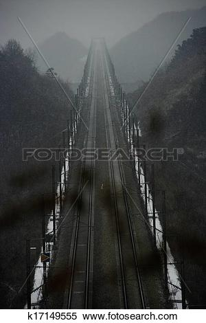 Stock Image of High Speed ??Rail in south korea, ktx k17149555.