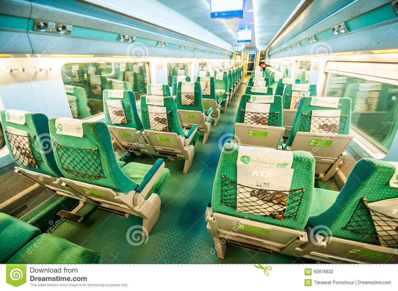 Inside KTX High Speed Train. Editorial Photography.