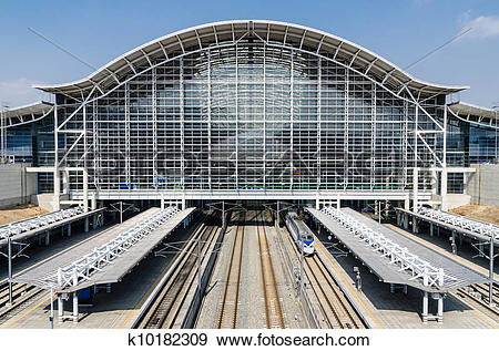 Stock Photograph of KTX train station k10182309.