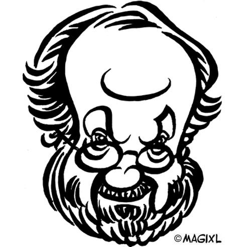 caricature clipart movie director.