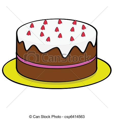 Cake Without Candles Clipart.