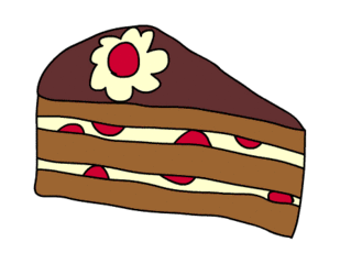 Clipart kuchenstück.