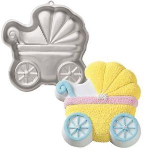 Wilton 3D Kinderwagen Backblech / Baby Buggy Cake Pan 3D.