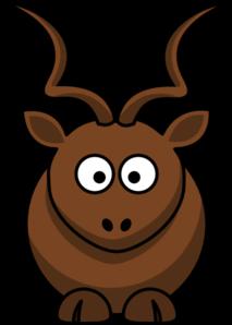 Simple Cartoon Kudu Clip Art at Clker.com.