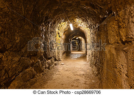 Stock Photography of Secret tunnel in Castle Kufstein.