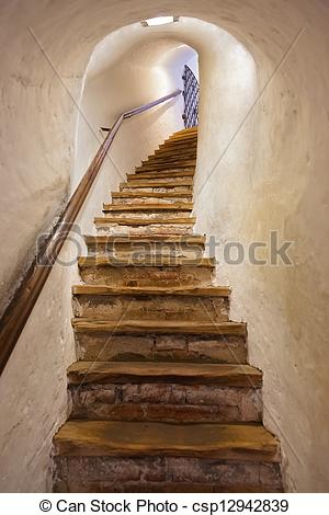 Stock Photos of Stairs in Castle Kufstein.