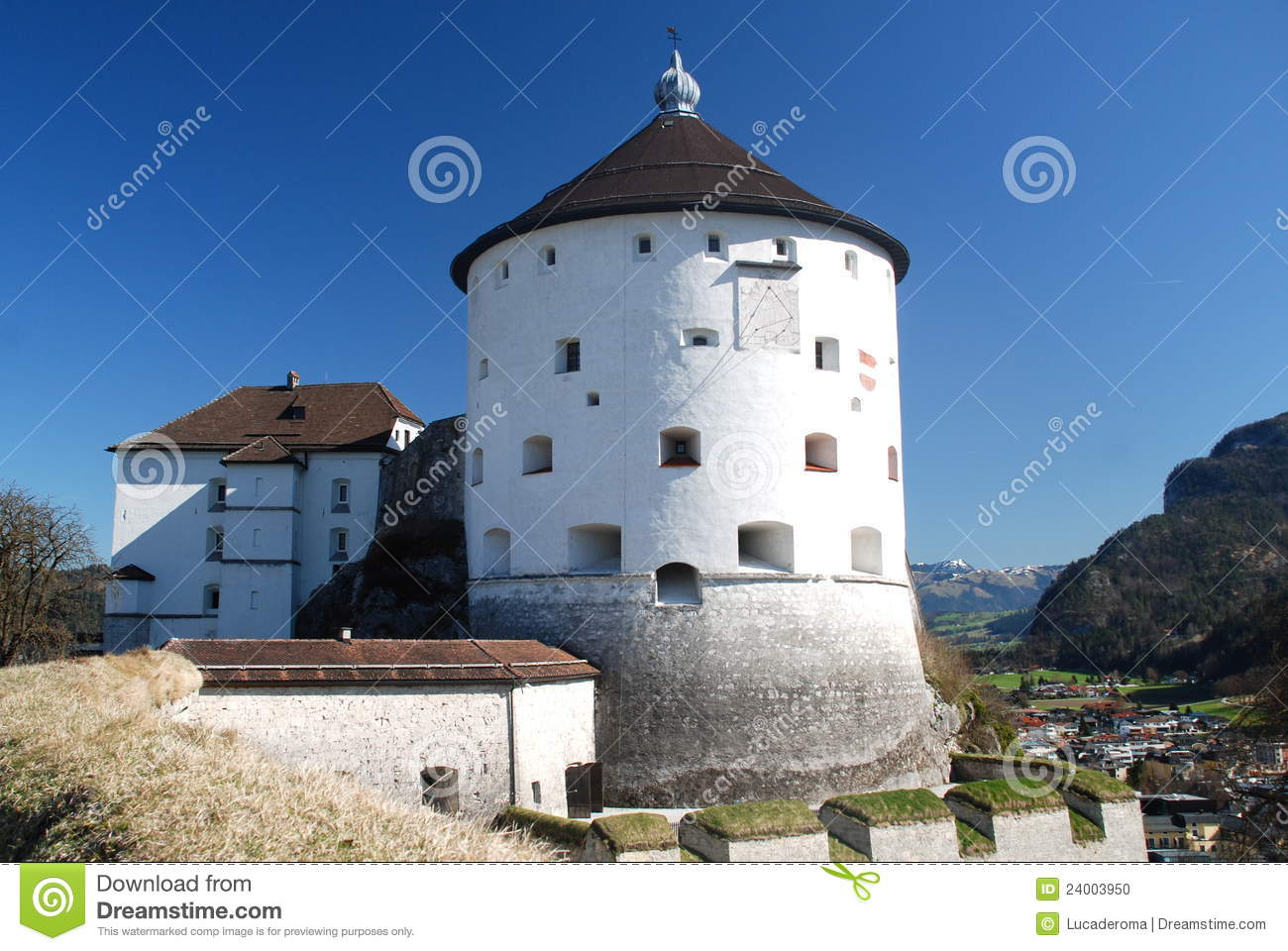 The Kufstein Fortress, Tyrol, Austria Stock Photo.