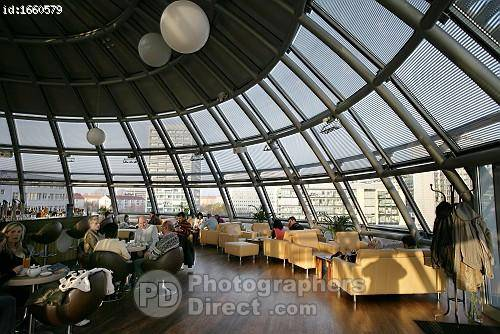 PD Stock photo : Sky Cafe In The Kugelhaus , Dresden , Saxony.